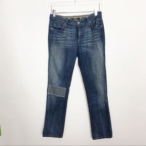 Paperdenim&cloth Piama patched mid-rise jeans 28